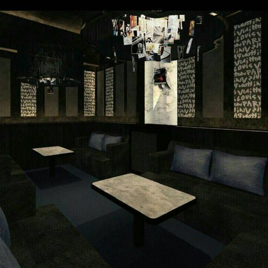 西麻布の会員制ラウンジ、ゼロ(zero)の店内画像